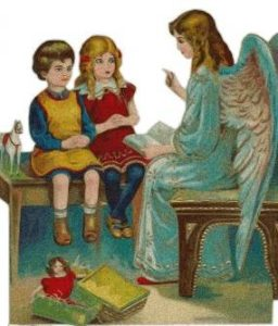 angel-children-in-schoolroom-old-fashioned-free-use